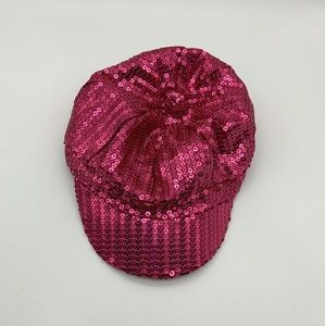 Disney Parks Youth Girl Hat Sequined Pink